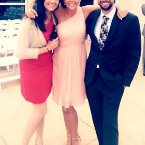 J crew blush bridesmaid dress